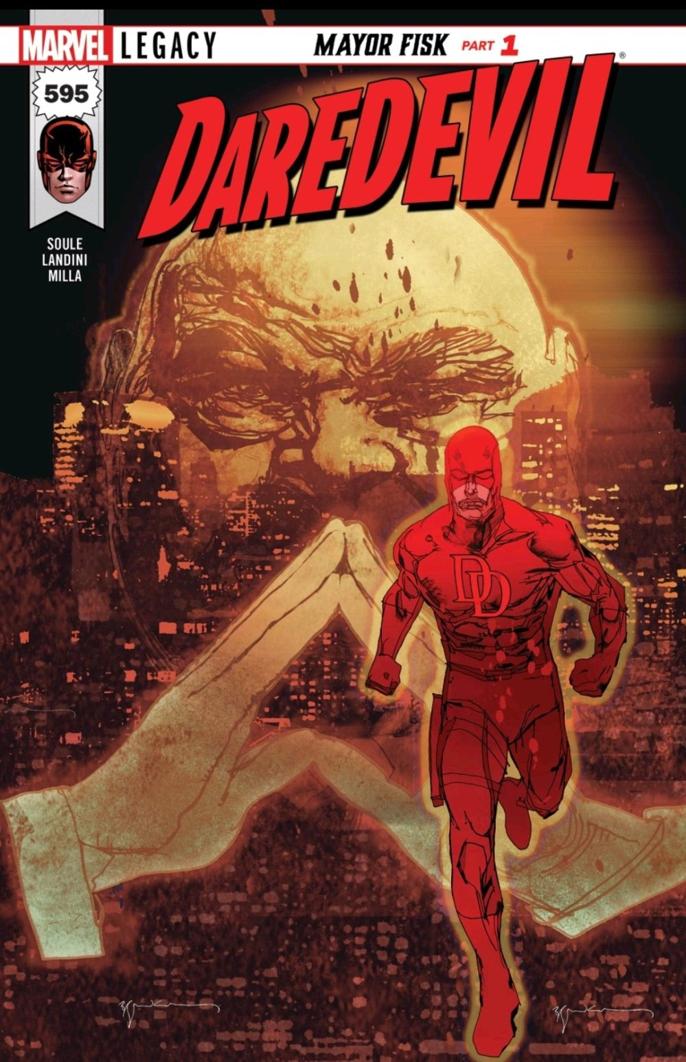 Cover of Daredevil issue 595 Mayor Fisk