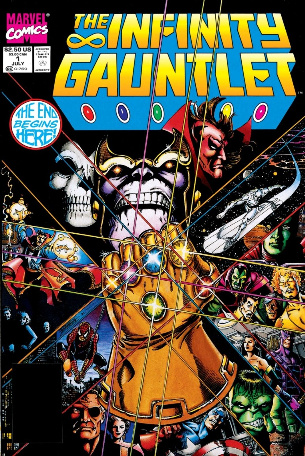 Infinity Gauntlet dope ass cover