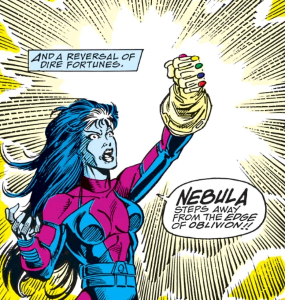 Nebula in control of the gauntlet