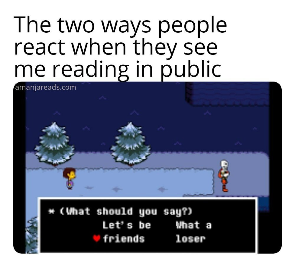 reading in public meme