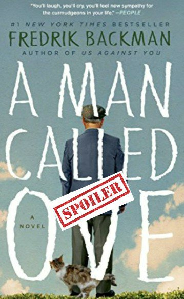 a man called ove book cover with spoiler tag