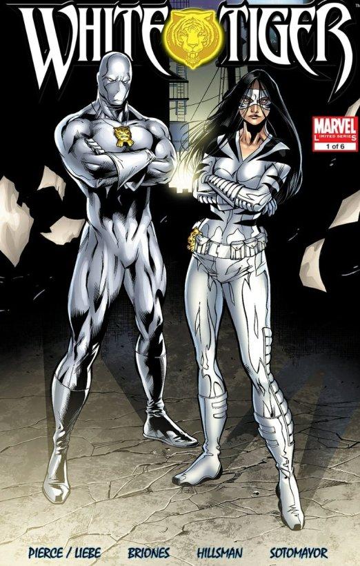 white tiger marvel comics cover
