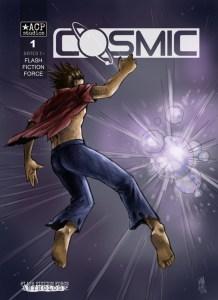Cosmic flash fiction anthology cover