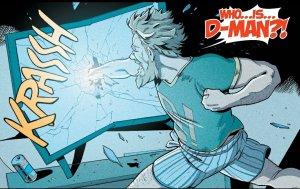 D-Man punching his television