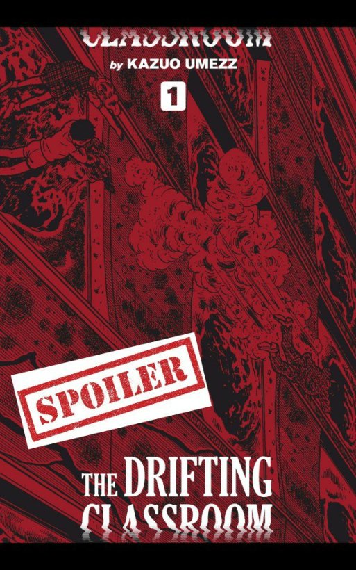 spoiler marked cover drifting classroom