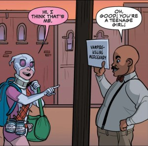 gwenpool is a teenage mercenary