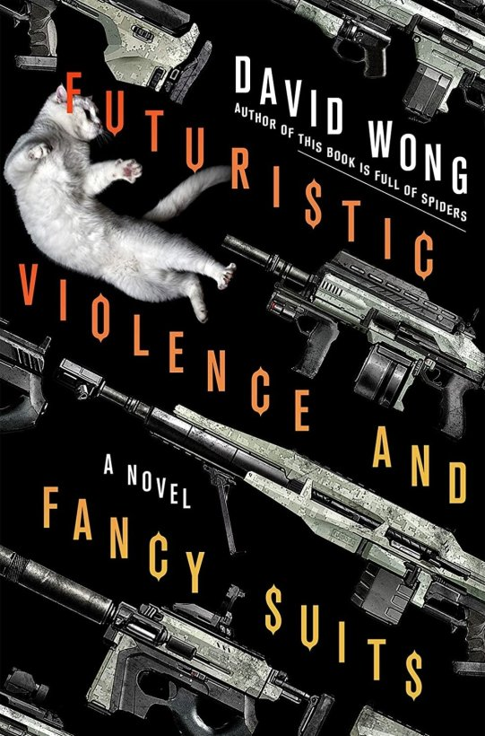 futuristic violence and fancy suits book cover