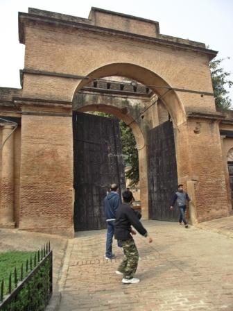 Entering through the Bailey Garad Gate