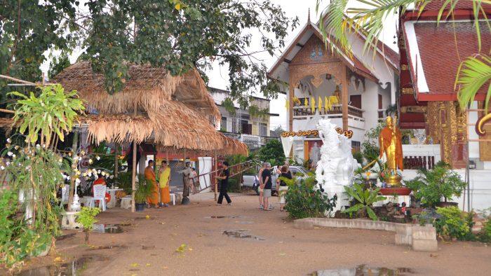 cour d'un temple à Chiang Mai