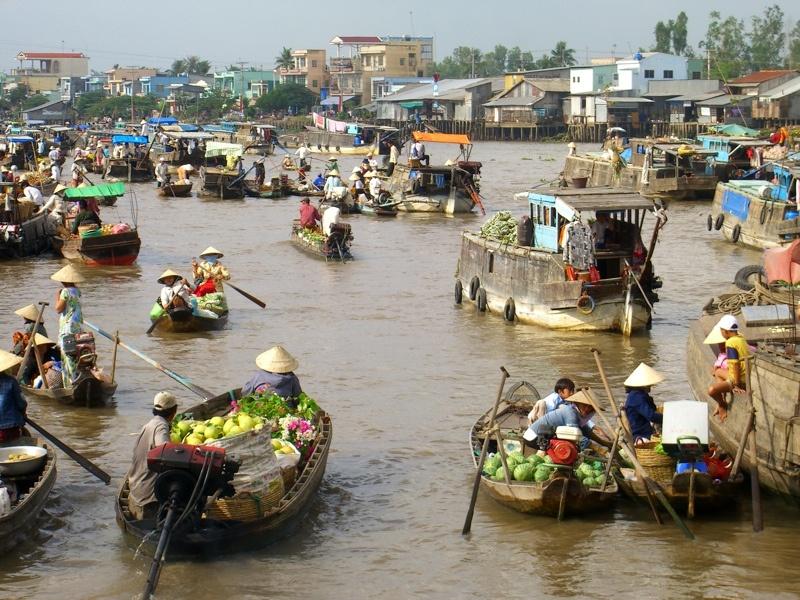 Mercado flutuante de Cai Be - Vietname