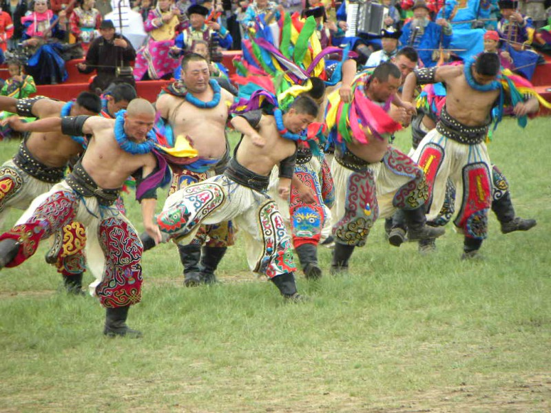 Naadam Festival na Mongólia