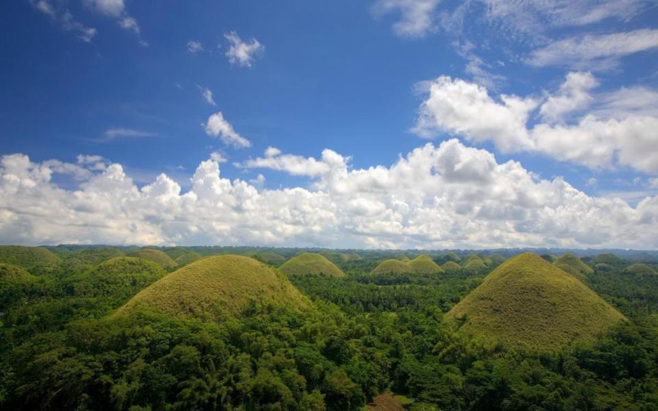 Colinas de Chocolate na Ilha de Bohol
