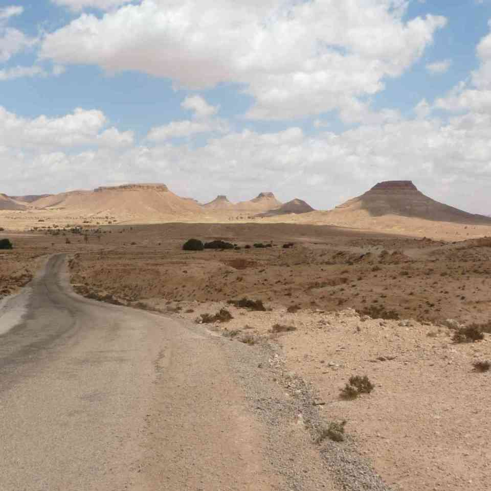 Deserto na Tunísia