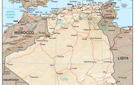 Mapa da Argélia