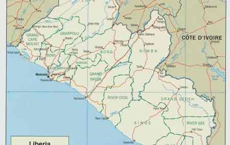 Mapa da Libéria