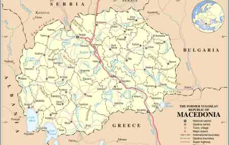 Mapa da Macedónia