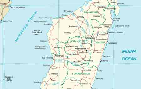 Mapa de Madagáscar