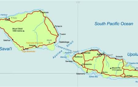 Mapa de Samoa