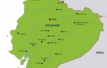 Mapa do Equador
