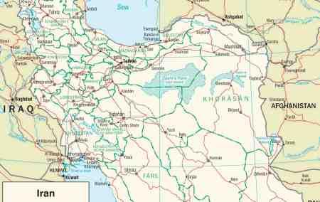 Mapa do Irão