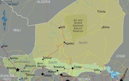 Mapa do Níger