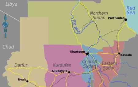 Mapa do Sudão - Norte