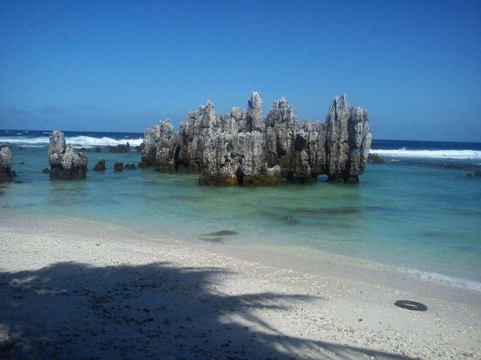 Praia em Nauru
