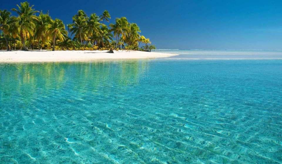 Praia em Tuvalu