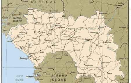 Mapa da Guiné-Conacri