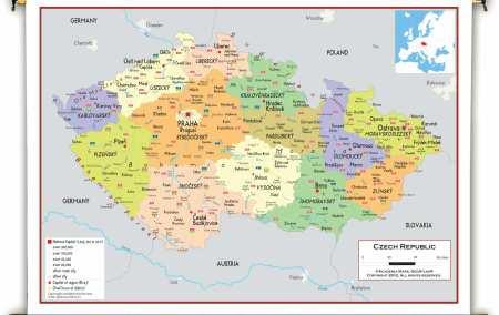 Mapa da República Checa
