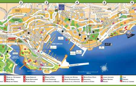 Mapa do Mónaco