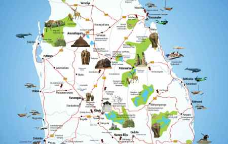 Mapa do Sri Lanka