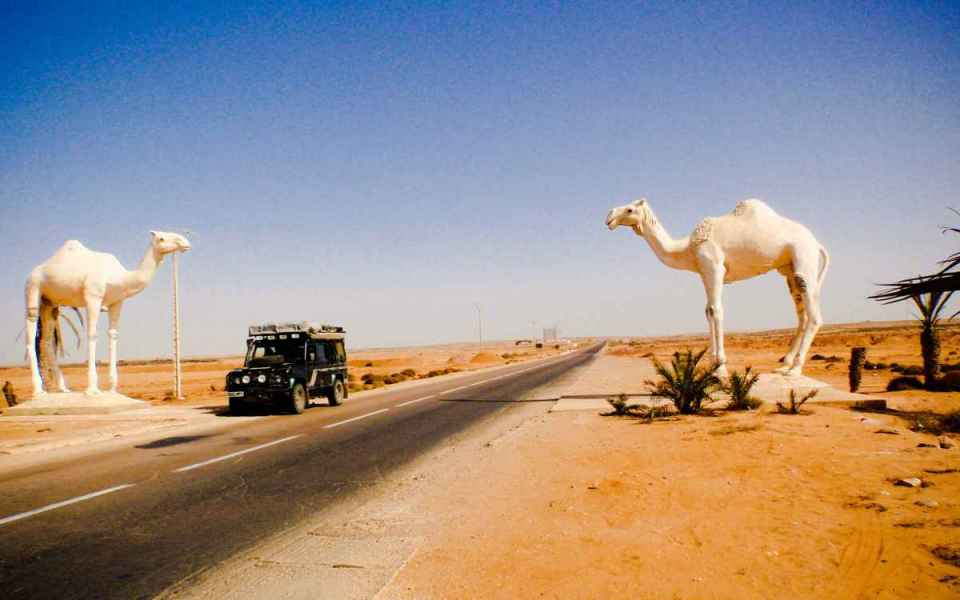 Porta entrada no Deserto do Sahara (Oeste)