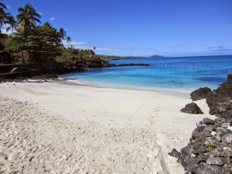 Praia em Comores