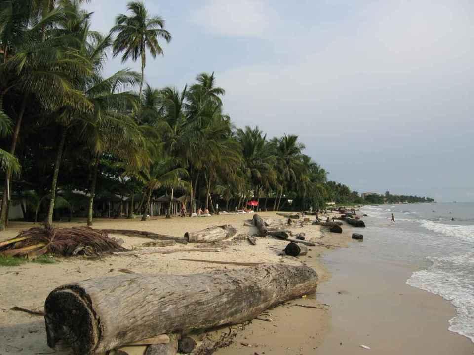 Praia no Gabão