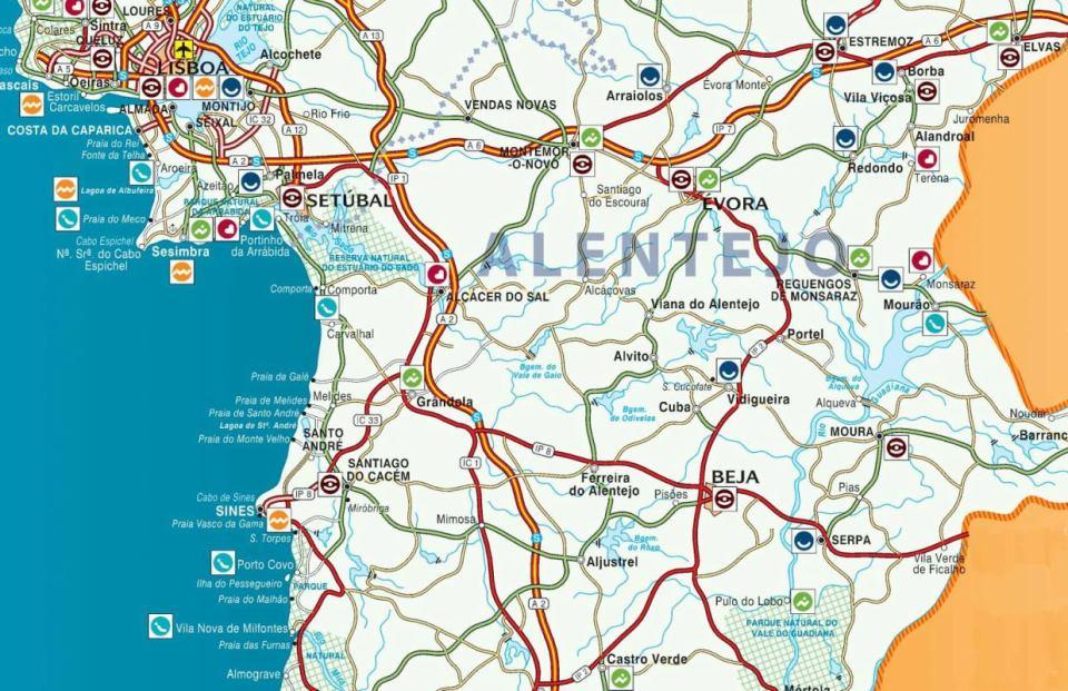 brotas alentejo mapa ALENTEJO – Amantes de Viagens brotas alentejo mapa