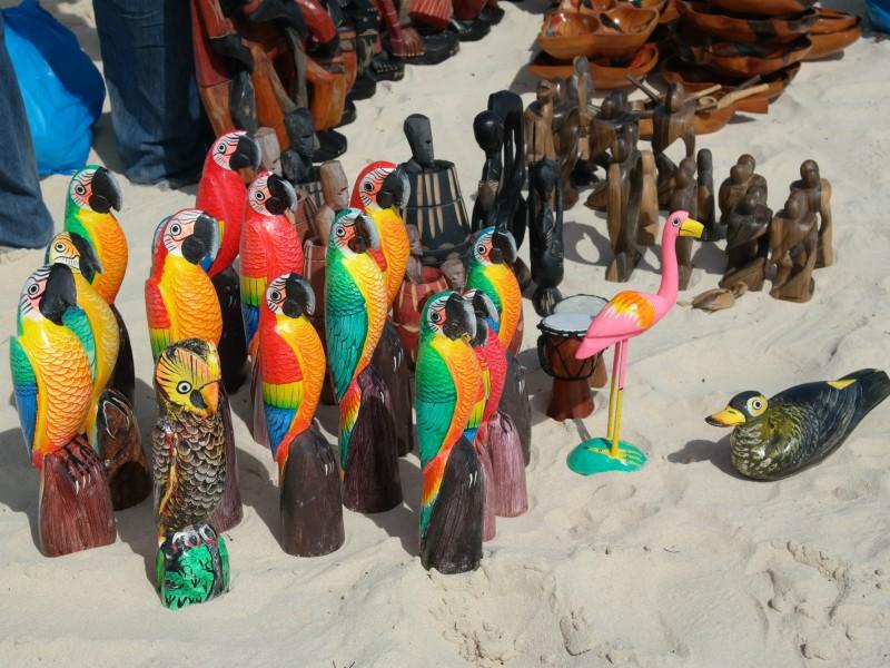 Venda ambulante na praia- Punta Cana