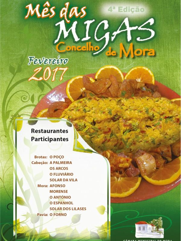 Cartaz Mês das Migas 2017 @ credits CMM
