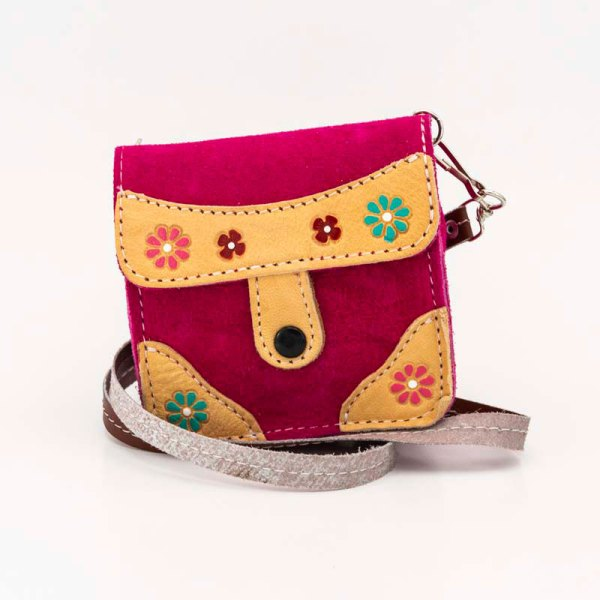 handmade-iris-girls-fuchsia-suede-leather-mexican-handbag-front-view-116