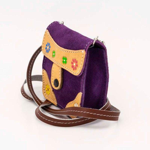 handmade-iris-girls-purple-suede-leather-mexican-handbag-front-view-112