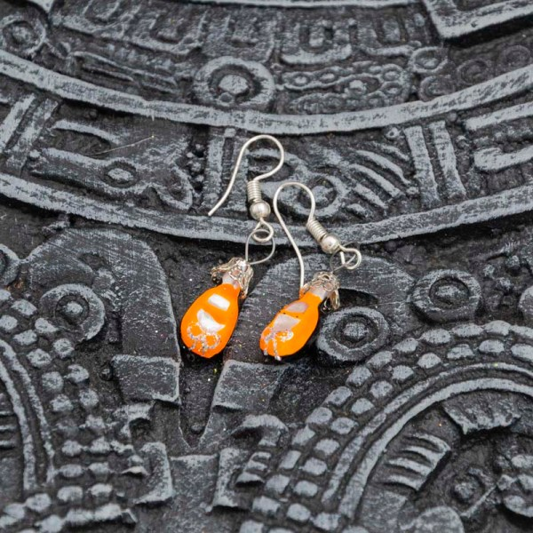 shoes-hand-blown-glass-orange-earrings-153
