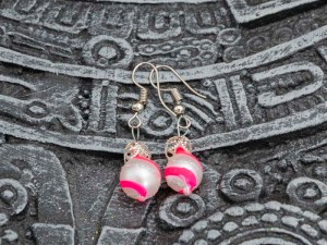 swirl-hand-blown-glass-pink-silver-earrings-116