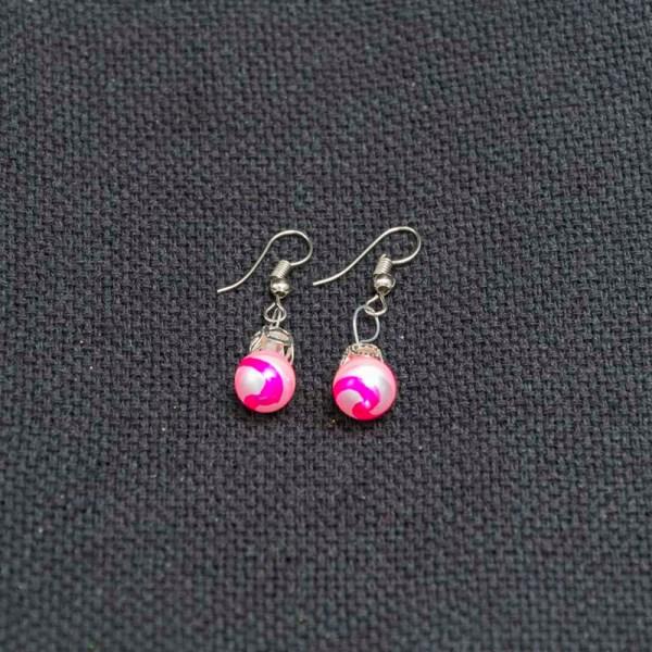 swirl-hand-blown-glass-pink-silver-earrings-132