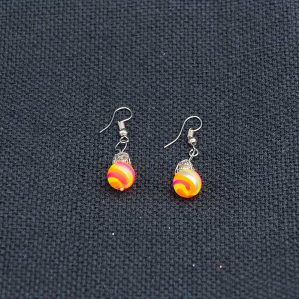 swirl-hand-blown-glass-pink-yellow-orange-earrings-124