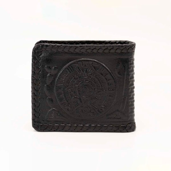handmade-handtooled-mexican-laced-wallets-aztec-calendar-eagle-067