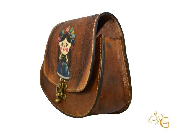 Handmade Hand painted Mexican Leather Cow hide purse handbag-105