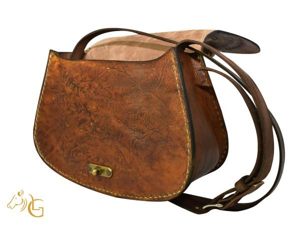 Handmade Hand painted Mexican Leather Cow hide purse handbag-102