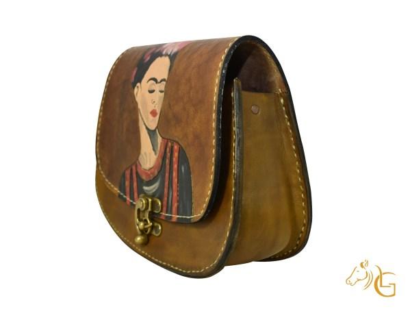 Handmade Hand painted Frida Kahlo Mexican Leather Cow hide purse handbag-107