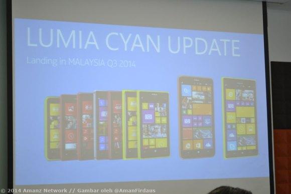 Hakcipta Amanz Network, Lumia Cyan Launching, Gambar oleh @amanfirdaus