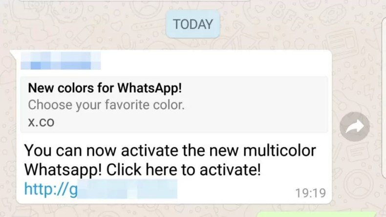 Scam WhatsApp Color